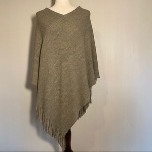 Steve Madden, Over the head Shawl with Fringe